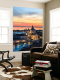 Italy, Venice, Santa Maria Della Salute Church from the Campanile at Sunset Wall Mural by Matteo Colombo
