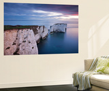 Old Harry Rocks at the Start of the Jurassic Coast World Heritage Site, Dorset, England. Spring Wall Mural by Adam Burton