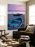 Boats at Low Tide on the Shore of the Fleet Lagoon, Chesil Beach, Dorset, England. Spring Wall Mural by Adam Burton
