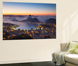 View of Sugarloaf Mountain and Botafogo Bay at Dawn, Rio De Janeiro, Brazil Wall Mural by Ian Trower