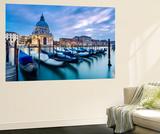 Italy, Veneto, Venice. Santa Maria Della Salute Church on the Grand Canal, at Sunset Wall Mural by Matteo Colombo