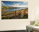 Kissing Gate on the South West Coast Path Near Crackington Haven, Cornwall, England Wall Mural by Adam Burton