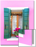 Italy, Veneto, Venice, Burano. Typical Window on a Colorful House Poster by Matteo Colombo