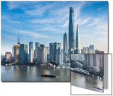 Shanghai Tower and the Pudong Skyline across the Huangpu River, Shanghai, China Prints by Jon Arnold