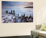 Wooden Groyne on Porlock Beach, Exmoor, Somerset, England. Summer Wall Mural by Adam Burton