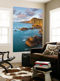 St Nicholas Chapel and Beacon Point on the Rocky Coast of Ilfracombe, Devon, England. Spring Wall Mural by Adam Burton