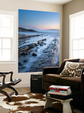 Rocky Ledges in Twilight, Kilve Beach, Somerset, England. Summer (June) Wall Mural by Adam Burton