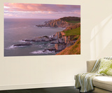 Glorius Evening Light on the North Devon Coast Near Ilfracombe, England. Spring (May) Wall Mural by Adam Burton