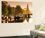 Netherlands, North Holland, Amsterdam. Montelbaan Tower at Oude Schans Wall Mural by Francesco Iacobelli