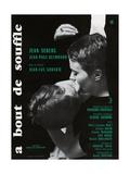 Breathless, 1960 (A Bout De Souffle) Giclée-tryk