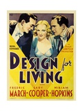 Design for Living, 1933 Giclee Print