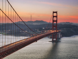 Morning Sky and South Tower, Golden Gate Bridge Metal Print by Vincent James