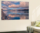 Bay Bridge Cloudscape Wide, Oakland, California Premium Wall Mural by Vincent James