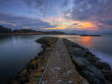 Sunrise Pier at Fort Baker, Sausalito California Alu-Dibond von Vincent James