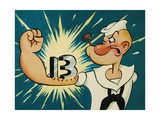 Popeye the Sailor, 1960 Giclee Print