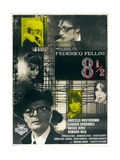 Federico Fellini's 8 1/2, 1963 ジクレープリント