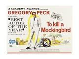 To Kill a Mockingbird 1962 Digitálně vytištěná reprodukce