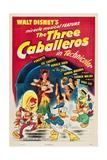 The Three Caballeros, 1944 Digitálně vytištěná reprodukce