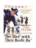 They Died with their Boots On, 1941 Giclee Print