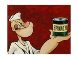 Popeye the Sailor, 1960 Giclée-tryk