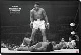 Muhammad Ali gegen Sonny Liston Framed Print Mount