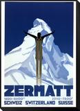 Zermatt Framed Print Mount by Pierre Kramer