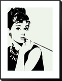 Audrey Hepburn: Cigarillo Framed Print Mount