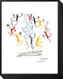 Der Reigen Gerahmter, auf Holz aufgezogener Druck von Pablo Picasso