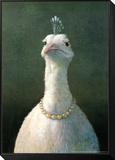 Fowl with Pearls Mocowany wydruk w ramie autor Michael Sowa