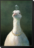 Michael Sowa - Fowl with Pearls Zarámovaná reprodukce na desce