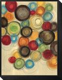 Colorful Whimsy I Gerahmter, auf Holz aufgezogener Druck von Jeni Lee