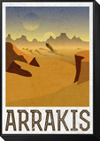 Arrakis Retro Travel Framed Print Mount