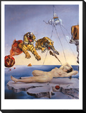 Dream Caused by the Flight of a Bee around a Pomegranate, c. 1944 Framed Print Mount by Salvador Dalí