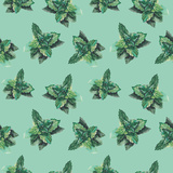 Watercolor Mint Pattern Prints by  lenavetka87