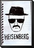 Heisenberg Sketch Poster Framed Print Mount