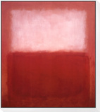 White over Red Framed Print Mount von Mark Rothko