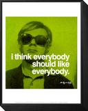 Jeder Framed Print Mount von Andy Warhol