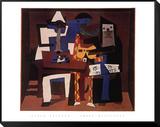 Three Musicians, c.1921 Lámina montada con marco por Pablo Picasso