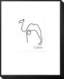 El camello Lámina montada y enmarcada por Pablo Picasso