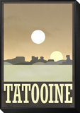 Tatooine Travel Poster Framed Print Mount