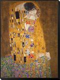 Gustav Klimt - The Kiss (Le Baiser), c.1907 Zarámovaná reprodukce na desce
