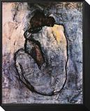 Desnudo azul, c.1902 Lámina montada con marco por Pablo Picasso