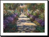 Garden at Giverny Lámina montada con marco por Claude Monet