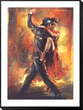 Tango argentino Lámina montada con marco por Pedro Alvarez