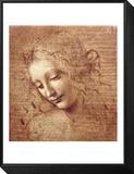 Weiblicher Kopf (La Scapigliata), ca. 1508 Framed Print Mount von  Leonardo da Vinci