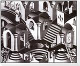 Concave et convexe Reproduction montée et encadrée par M. C. Escher