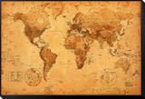 World Map Framed Print Mount