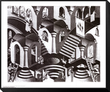 Concave and Convex Framed Print Mount by M. C. Escher