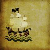 Barco Pirata Antiguo Prints by  elimg
