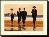 Vier mannen aan het strand: The Billy Boys Ingelijst aangebrachte kunstdruk van Vettriano, Jack